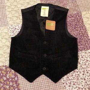 Boy's black corduroy vest NWT